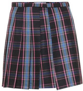 Matthew Adams Dolan Checked wool-blend miniskirt