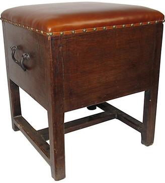 One Kings Lane Vintage 19th-C. Oak Stool - Adam Babicz Antiques