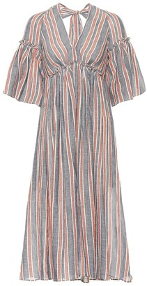 Three Graces London Georgiana linen and cotton dress