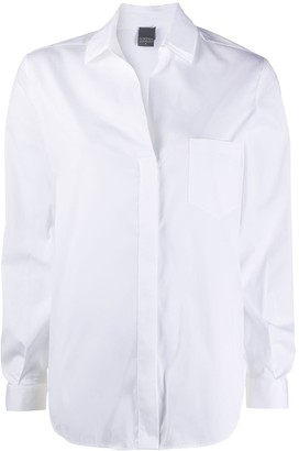 Lorena Antoniazzi Open Collar Curved Hem Shirt