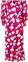 Saloni off-shoulder floral dress