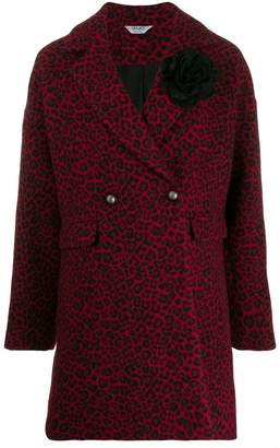 Liu Jo leopard double-breasted coat