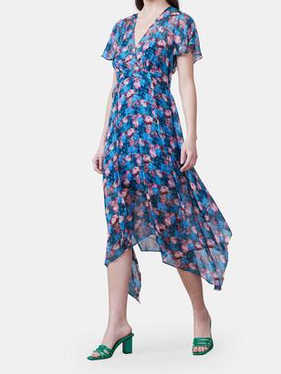 Allen Schwartz Cecile Hanky Hem Midi Dress