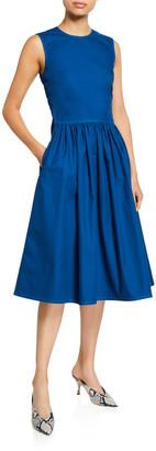 Sies Marjan Canvas Ruched-Waist Dress