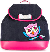 Salvatore Ferragamo Kids - owl backpack - kids - Cotton - One Size