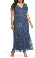 Pisarro Nights Plus Size Women's Sequin Lace A-Line Gown