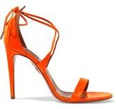 Aquazzura Linda Neon Patent-Leather Sandals