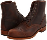 Frye Arkansas Brogue Boot (Dark Brown/Smooth Full Grain) - Footwear