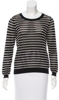 Sandro Stripe Long Sleeve Top