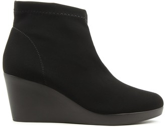 Daniel Rosetta Black Wedge Ankle Boots