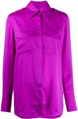 Victoria Victoria Beckham Wide-Collar Plain Shirt