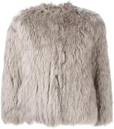 Maison Margiela cropped fur jacket - women - Cotton/Viscose/Cashmere/Lama Fur - 40