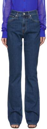 Helmut Lang Indigo Femme Hi Bootcut Jeans