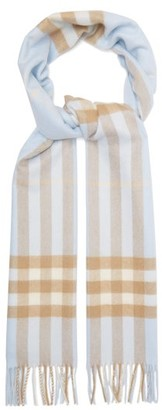 Burberry Classic Checked Cashmere Scarf - Womens - Blue Multi