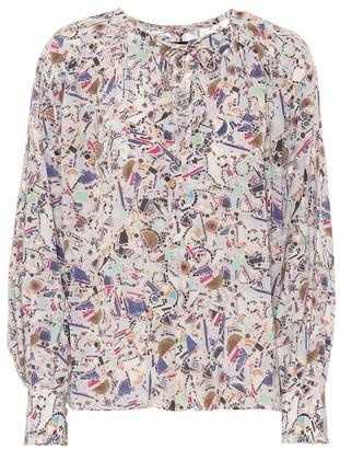Isabel Marant Amba printed stretch-silk blouse