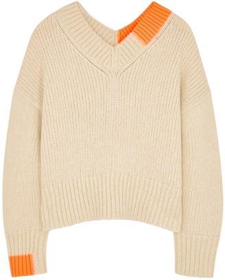 Helmut Lang Cream Chunky-knit Jumper