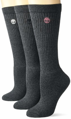Timberland Ladies 3-Pair Pack Ribbed FC Boot Socks One Size