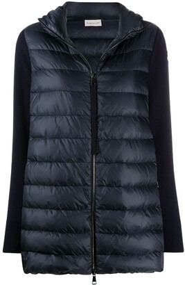Moncler Contrast-Sleeve Down-Feather Jacket