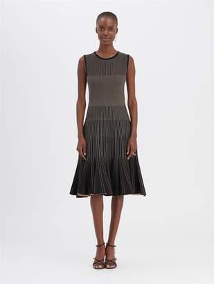 Oscar de la Renta Metallic Ribbed Dress