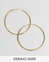 Asos Gold Plated Sterling Silver 60mm Hoop Earrings