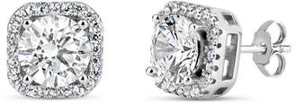 FINE JEWELRY 4 3/4 CT. T.W. Lab Created White Cubic Zirconia Sterling Silver 9.1mm Curved Stud Earrings