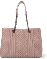 Bottega Veneta Shopper Large Intrecciato Leather Tote - Blush