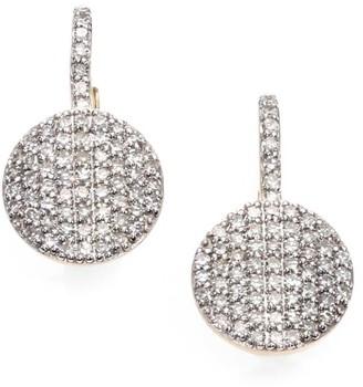 Phillips House Pave Diamond & 14K Yellow Gold Petite Infinity Drop Earrings