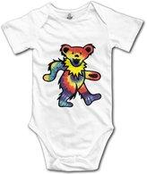 LADOLADO Rock The Grateful Dead Dancing Bear Baby Onesie Bodysuits
