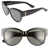 Saint Laurent Women's 55Mm Cat Eye Sunglasses - Black