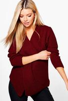 Boohoo Faye Cross Front V Neck Jumper