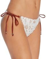 Nanette Lepore Crochet Vamp Side Tie Bikini Bottom