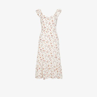 Reformation Bondi floral print midi dress