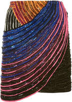 Balmain Embellished Multicolored Mini Skirt