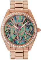 Betsey Johnson Women's Rose Gold-Tone Stainless Steel Bracelet Watch 40mm BJ00048-147