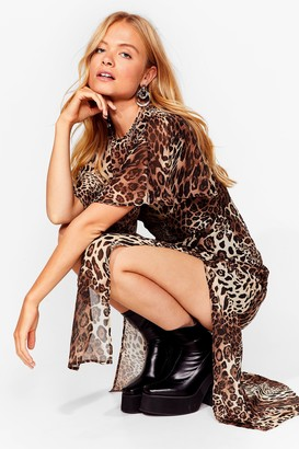 Nasty Gal Womens Show 'Em Meow It's Done Leopard Maxi Dress - Tan