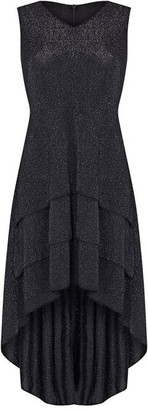 Yumi Ruffle Asymmetric Dress