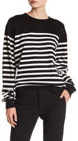The Kooples Striped Fleece Sweatshirt