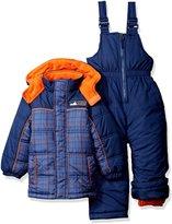 iXtreme Little Boys' Plaid W/ Pop Printed Snowsuit