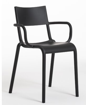 Kartell Generic A Stacking Patio Dining Chair Color: Black