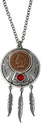 American Coin Treasures Indian Cent Dream Catcher Coin Pendan