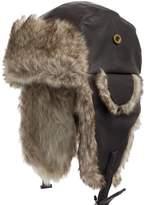 Ultrafino Ushanka Trooper Pilot Faux Rabbit Fur Leather Fall and Winter Trapper Hat 7 5/8