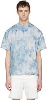 Satisfy Blue Tie Dye run Away Moth Eaten T-shirt