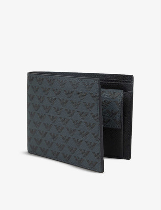 Emporio Armani Faux-leather logo bifold wallet