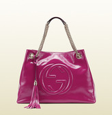 Gucci Soho Soft Patent Leather Shoulder Bag