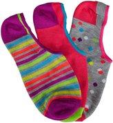 Stride Rite 3 Pack Low Show Socks (Kid) - Multicolor-4-6 Years