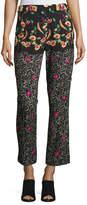 Etro Mixed-Pattern Pants, Black
