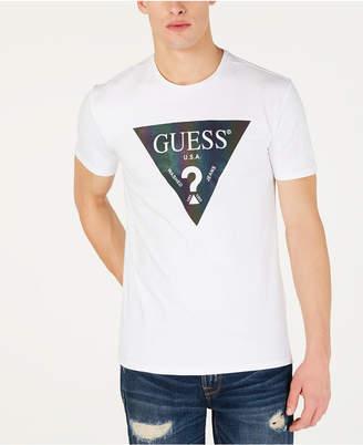 GUESS Men Color Shades Logo T-Shirt