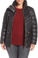 Bernardo Plus Size Women's Packable Jacket With Down & Primaloft Fill