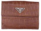 Prada Embossed Compact Wallet