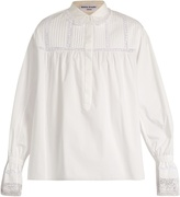 Sonia Rykiel Lace-trimmed cotton shirt